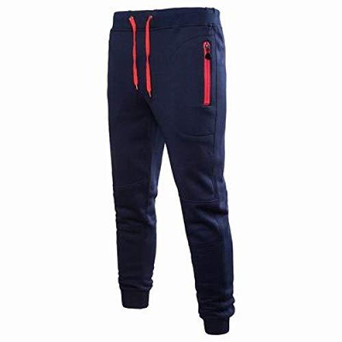 N/ A Herrenhose Stretch Hose mit elastischer Taille und Tunnelzug Lässige Jogginghose Slim Fit Joggerhose mit Verstellbarer Knöchelöffnung