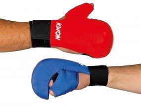 Kwon Karate Handschutz, mit Daumenschlaufe, rot, Gr. XS