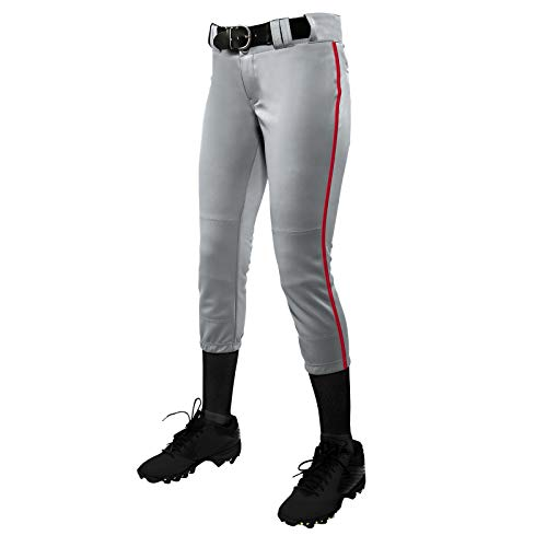 CHAMPRO Turnier-Hose, traditionell, niedrig geschnitten, Softball-Hose mit kontrastfarbener Flechtpaspelierung