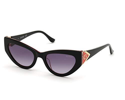 Guess GU-7649-S 01B - Gafas de sol, color negro brillante y rojo