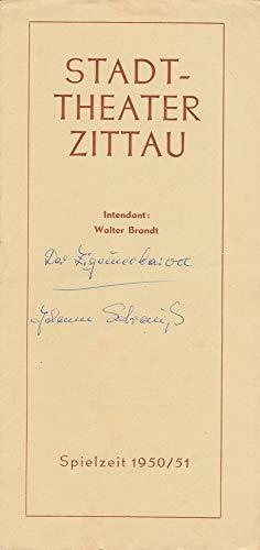 Programmheft Johann Strauß DER ZIGEUNERBARON Spielzeit 1950 / 51