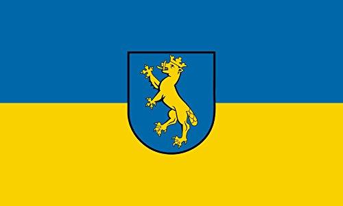 magFlags Tisch-Fahne/Tisch-Flagge: Biberach an der Riß 15x25cm inkl. Tisch-Ständer