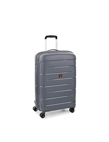 Roncato Flight DLX Trolley medio espandibile rigido 71 x 47 x 26-29 cm 4 ruote antracite