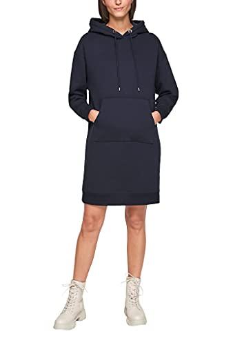 s.Oliver Damen Sweatshirt-Kleid mit Rippbündchen navy L