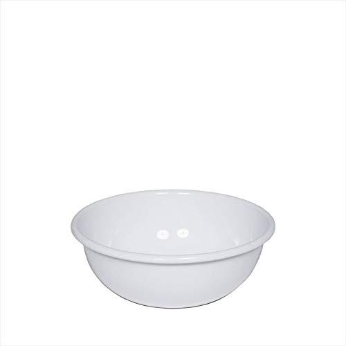 Riess 0305-033 - Schüssel, Rührschüssel, Küchenschüssel - Emaille - Vintage Look - Ø: 18cm - Farbe: Weiß