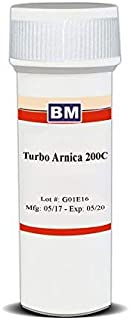 Turbo Arnica 200C, 300 pellets, Maximum Relief for Your Worst Pain and Injuries, Perfect for Bruising, Muscle Soreness, Overexertion, Trauma, Strained Muscles, Swelling, Shoulder Neck and Back Pain