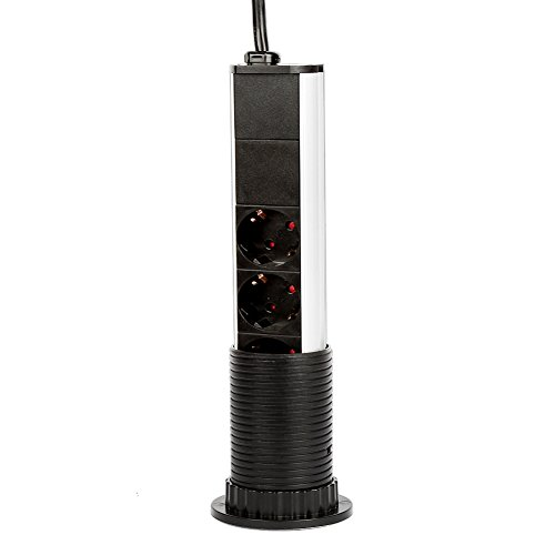 Dazone®: regleta con 2 puertos USB 5 V, CC 1 A (2 x 0, 5 A) y 3 ...