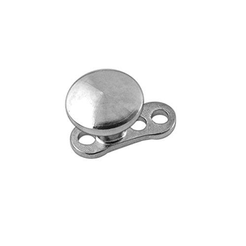 2MM Scheibe 316L chirurgischen Stahl Spitze mit G23 Grade Titan Basis Micro Dermal Anchor Piercing-Schmuck