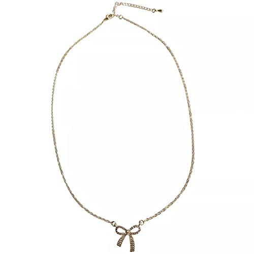 Collar Colgante Collar de cadena de joyería de moda que vende dulce temperamenmt collar con colgante de mariposa de cristal transparente para niña regalo para dama Collar amistad Aniversario Regalo