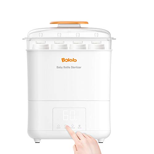 Bololo Baby Bottle Eletric Steam Sterilizer and Dryer with LED Panel Touch Screen, Drying time Control and only Drying Function, HEPA Filter Inside