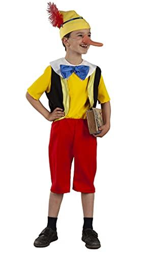 FIESTA Y CARNAVAL, SL Disfraz de Pinocho Clásico para niño