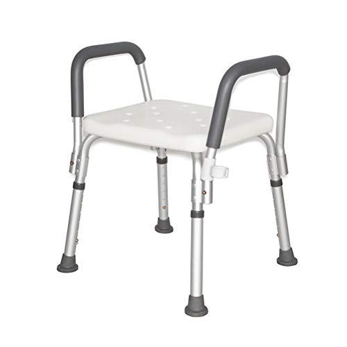 Badzitje Douchebank Verstelbare douchestoel met gepolsterde armen, Medische douchestoel Bankje Barkruk Veiligheid Douchestoel voor ouderen, Volwassenen, Minder validen