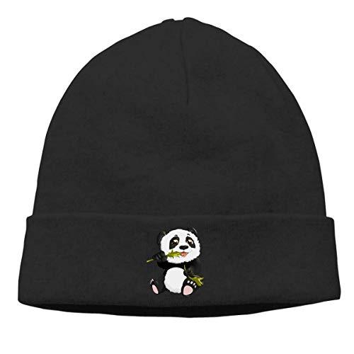 Gorros de Punto Panda Gorro Slouch Beanie de Fino para Hombres Mujeres Sombrero de Invierno de Punto Gorro