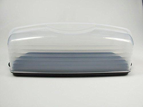 TUPPERWARE exclusieve koningscakehouder zwart cakevorm container cake vorm 31194