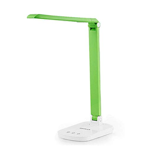 HYY-YY Tafellampen, Personality Simple oogbescherming bureaulamp, Study Lamp, leeslampjes Led slaapzaal Kinderen Touch dimbare leeslamp, USB Foldable Green Reading Night Light