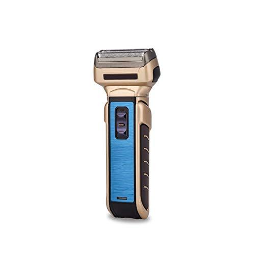 GFDFD 3 en 1 Profesional de cortadora de Cabello eléctrica, Trimmer de Pelo de la Nariz, la maquinilla de Afeitar Recargable de los Hombres, barbero, Conveniente for el hogar, peluquería (Azul)
