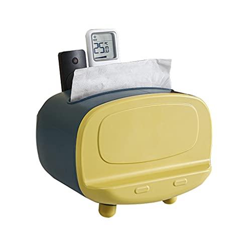 Tissue box Retro TV Caja De Cajones De Color Contrastante ABS Estante Multifunción Se Puede Usar como Control Remoto O como Soporte para Teléfono Móvil