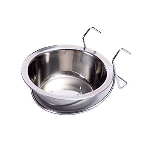 Roestvrijstalen Hangende Hondenbak Voor Huisdieren Kan Hondenkooi Ophangen Voerbak Enkele Hangende Hondenkooi Voerbak Voer- En Drinkbenodigdheden (Maat: M) Veilig En Duurzaam