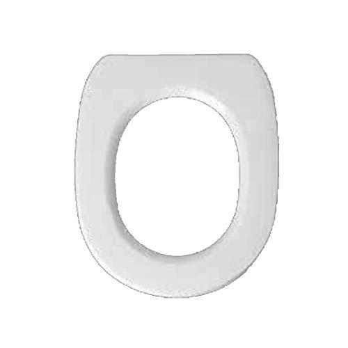 Copriwater dedicato per Serie Duetto Tondo Falerii in Resina Poliestere colata Bianco Lucido - Coperchio Sedile tavoletta per WC - Massima qualita' Garantita