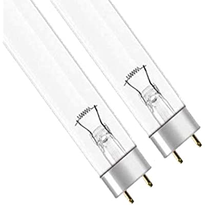 PACK of 2 25w ULTRA-VIOLET - REPLACEMENT T8 LAMP FOR POND UVC FILTERS Genuine Green Clear 2 x 25W WATT UV BULB