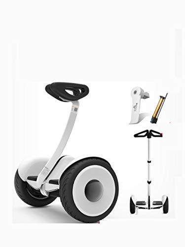 KYSZD-Escurreplatos Zweirad elektrisches intelligentes Unruhauto für Unruhauto-Weiß + rote Schutzhülle