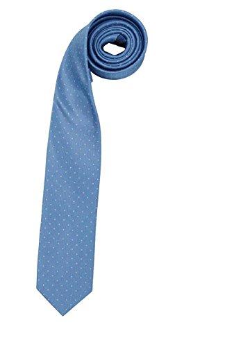OLYMP Krawatte slim aus reiner Seide Nano-Effekt Muster hellblau