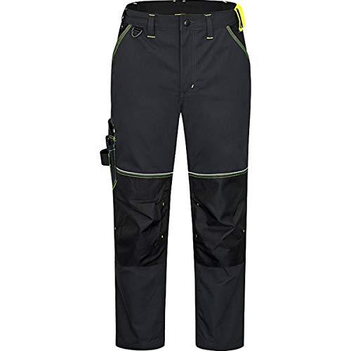 CERVA Knoxfield Arbeitshose für Herren - strapazierfähige Bundhose für Männer mit reflektierenden Nähten Größe 46, Farbe Anthrazit/Gelb