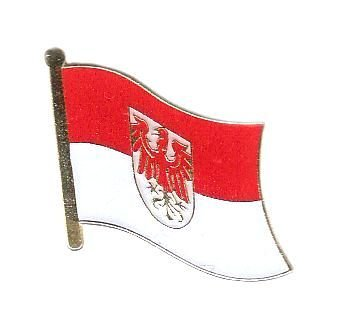 Flaggen Pin Brandenburg Pins Anstecknadel Fahne Flagge FLAGGENMAE®