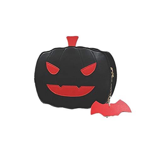 DASHUAI Mujeres Señoras Niñas Moda Calabazas De Halloween Bolsos Cruzados De Hombro Bolso De Hombro Dulce Bolsos De Cuero Vintage