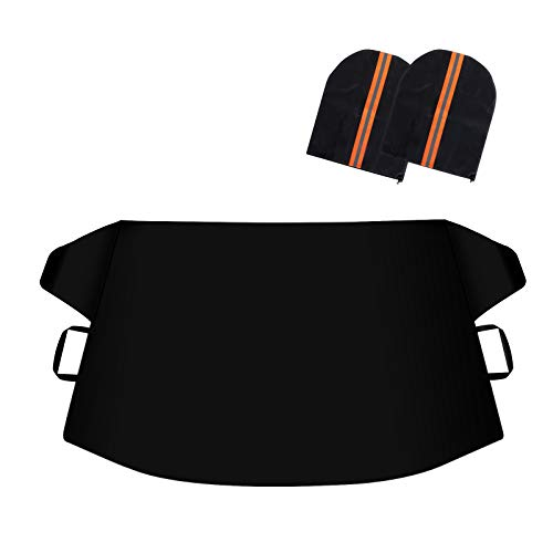 LADER Windshield Snow Cover, Car Windshield Snow Cover Ice Removal Wiper Protector for Snow,Ice,Sun,Frost Defense, Windshield Snow Ice Cover with Magnetic Edges, Fits Most Cars Trucks Vans and SUVs