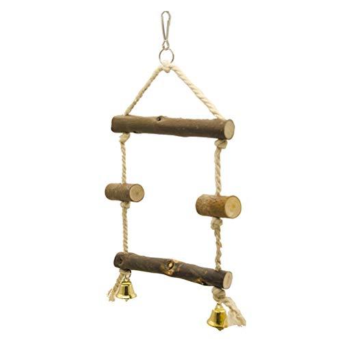 UKCOCO Vogel Papageien Natürliches Holz-hängendes Schwingen Spielzeug, Papageien Käfig Kletterndes Spielzeug