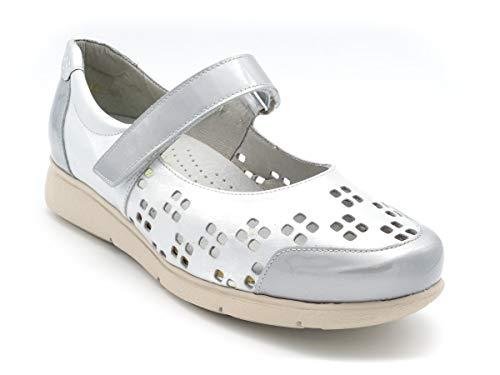 Zapato Merceditas Sport para Plantillas M-25414 Plata - Plata, 35
