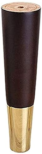 Gjrff 4 unids Piernas de muebles que soportan la mesa de café del pie de la mesa de TV de la mesa de los pies patas de los pies de los pies del cono de metal recto Reemplace las piernas de la madera m