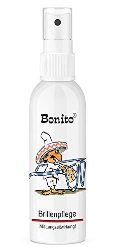 Bonito Brillenpflege 100 ml | Brillenpflege mit Schutz | geeignet für alle Arten von Brillengläsern | mit Antistatik-/ & Antibeschlag-Effekt | verhindert Spannungsrisse