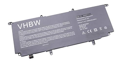 vhbw Batterie 2850mAh (11.1V) pour Ordinateur Portable, Notebook HP Split X2 13-M000. Remplace: 725497-1B1, 725497-1C1, 725607-001, HSTNN-IB5J, WR03XL