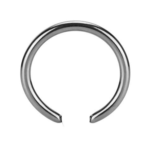 eeddoo Piercing-Ring ohne Kugel Silber Edelstahl 1,2 x 7mm