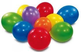 50 Luftballons 30cm Latexballon bunt gemischt