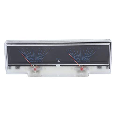 ASHATA Amplifier DB Meter Preamplificador Amplificador Medidor de nivel con luz de fondo, luz azul, 3 LED en paralelo VU Meter DB Level Header Amplificador Chasis Preamplificador de audio Amplificador