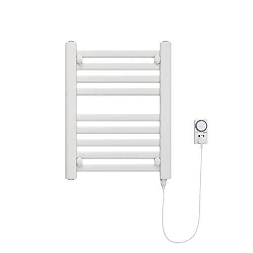 MTX-Racks handdoekwarmer, wandmontage, elektrische handdoekhouder, badkamer wasdroger, kleine kledingradiator met thermostaat en timer, antraciet, 200 W modern design