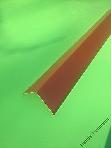 Firstblech 2 m lang Aluminium farbig 0,8 mm (groß, Rot)