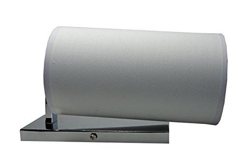 IMPRESSIONEN living 8566951 Wandleuchte weiß Textilschirm Metallhalterung
