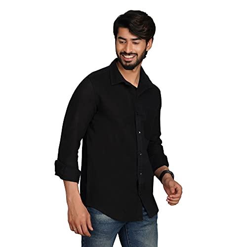21OCT Full Sleeves Regular Fit Cotton Formal Plain Shirts for Men