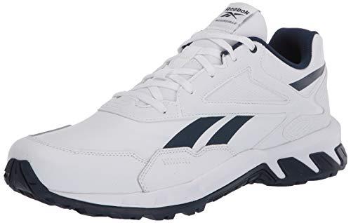 Reebok Men's Ridgerider 5.0 Leather Walking Shoe, White/Collegiate Navy/White, 9.5 M US