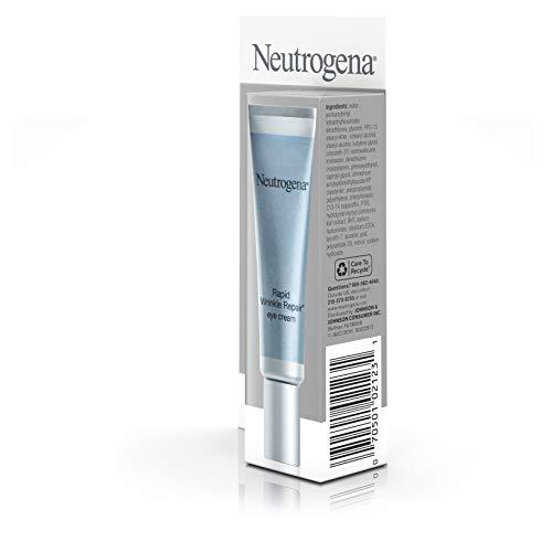31wmmRQnKmL - Neutrogena Rapid Wrinkle Repair Hyaluronic Acid Retinol Under Eye Cream - Anti Wrinkle Eye Cream for Dark Circles & Puffiness & Under Eye Bags - Hyaluronic Acid, Glycerin & Retinol Cream, 0.5 fl. oz