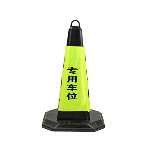 AJZXHE Warnkegel Notfall-Fluoreszenz-Schwarzstraßenkegel mit reflektierenden Streifen sichere Park H-75cm Sicherheitsschranken
