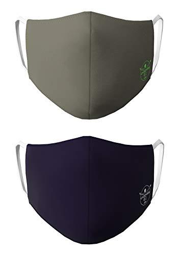 Chiemsee Nasen - & Mundschutz- Maske 2er Pack dunkelblau/Oliv