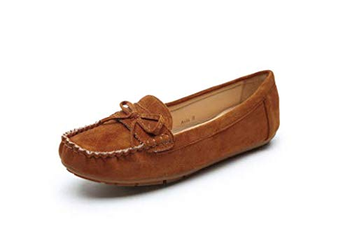 Comfortable Foldable Slip On Loafers Cushioned Insole Moccasins Flats Driving & Walking Shoes for Women, G-Anita10 Brown Size 8.5