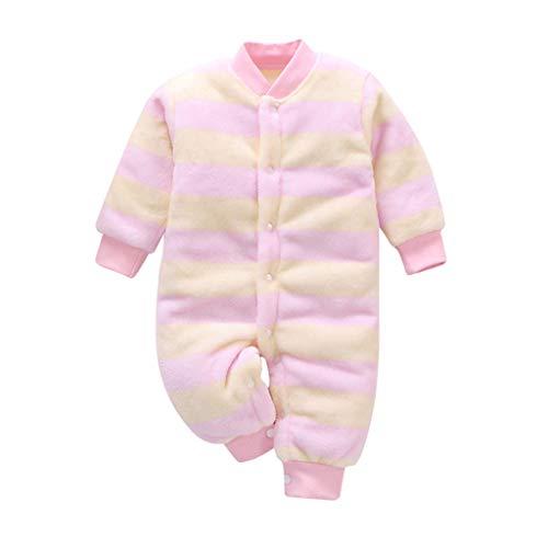 uBabamama jesienna wyprzedaż!!! dla noworodka niemowlęcia dziewczynki gruby ciepły pasek z nadrukiem serca kombinezon z długim rękawem kombinezon płaszcz stroje (żółty, 66)