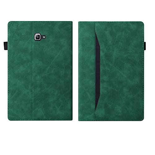 ONETHEFULCarcasaLibroFundaTabletSamsung Galaxy Tab A / A6 10.1' 2016 T580 T585CoverNegocios Documentos Bolsillo Fundascon Protectora PU CueroySoporte- Verde