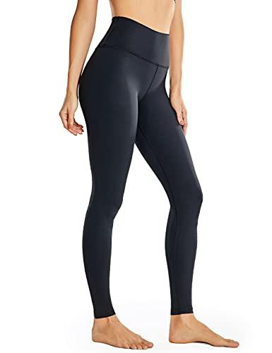 CRZ YOGA Mujer Deportivos Leggings Mallas Fitness Pantalones de Cintura Alta -71cm Negro-28 40